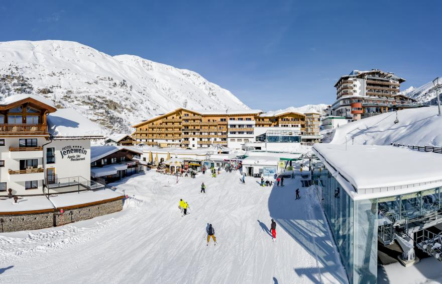 hotel obergurgl directly at the ski slope